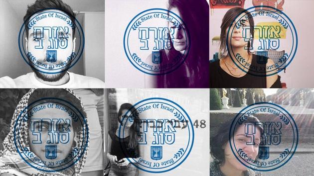 Árabes israelíes se burlan de la ley del Estado judío con sellos de 'segunda clase' en sus fotos