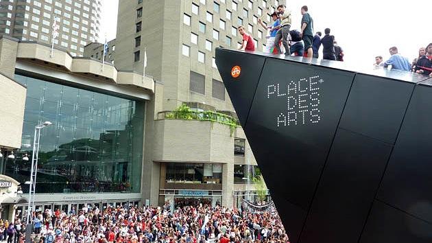 Una gigantesca marcha estudiantil paraliza Montreal