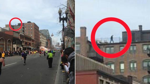 ¿Es el hombre misterioso en una azotea de Boston el posible autor del atentado?