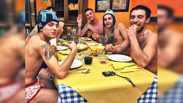 Crisis a la italiana: cene gratis y...¡en calzones!