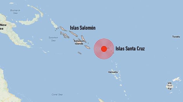 Un tsunami provocado por un terremoto en las Salomón causa al menos cinco muertos