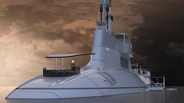Juguete para muy ricos: un submarino de lujo de 115 metros de eslora