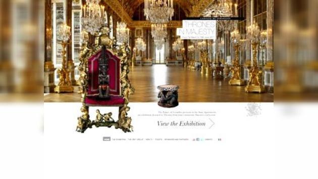 Sillones divinos en el Palacio de Versalles