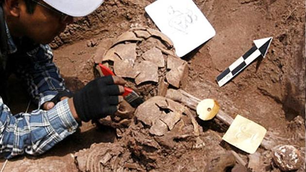 En México descubren un entierro azteca único en su tipo
