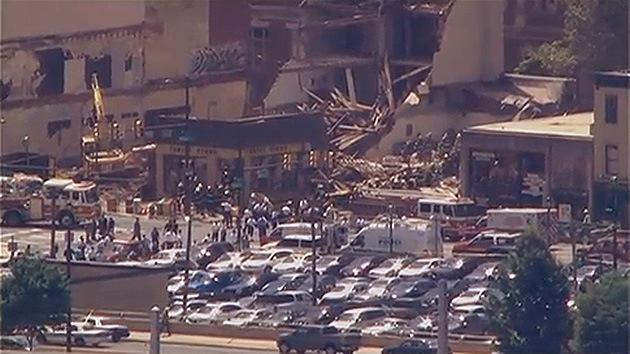 Se derrumba un edificio en el centro de Filadelfia