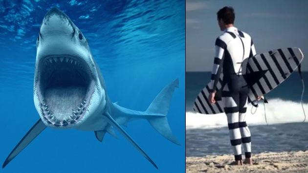Australia: Diseñan un traje para buzos y surfistas que se le 'atraganta' a los tiburones