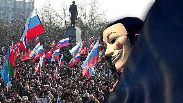 Anonymous asegura que se preparaba un ataque antes del referéndum en Crimea