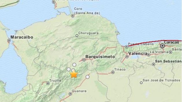 Fuerte sismo sacude el occidente de Venezuela