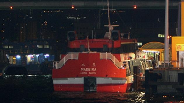 Al menos 87 heridos al chocar un ferry contra un objeto no identificado en Hong Kong