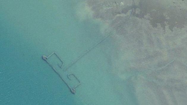 Google Earth revela un sistema gigante de pesca furtiva en el golfo Pérsico