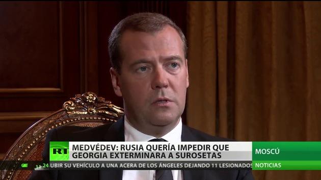 """Medvédev a RT: """"No hubo una guerra entre Rusia y Georgia, sino imposición de la paz"""""""