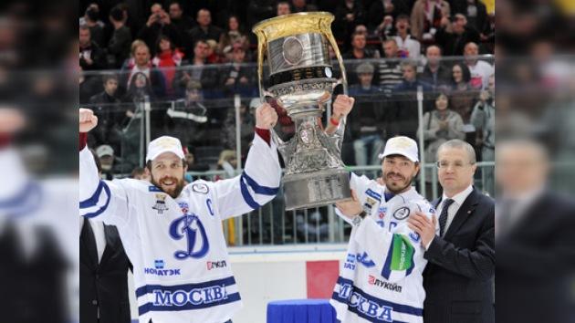 KHL: el Dinamo de Moscú se proclama campeón de la Copa Gagarin 2012