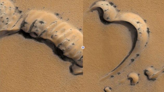 La NASA difunde fotografías de extraños objetos en Marte