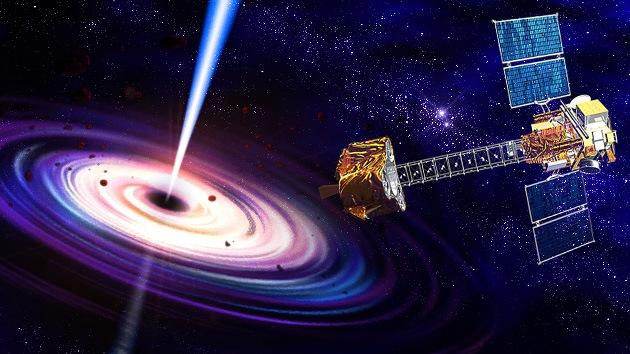 El telescopio orbital nuclear NuSTAR empezó a observar su primer agujero negro