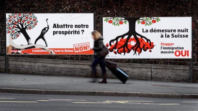 Iniciativa nacionalista contra la inmigración amenaza con aislar a Suiza de la UE