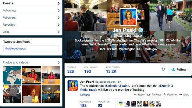 El Departamento de Estado de EE.UU. enciende Internet con un tuit sobre Ucrania