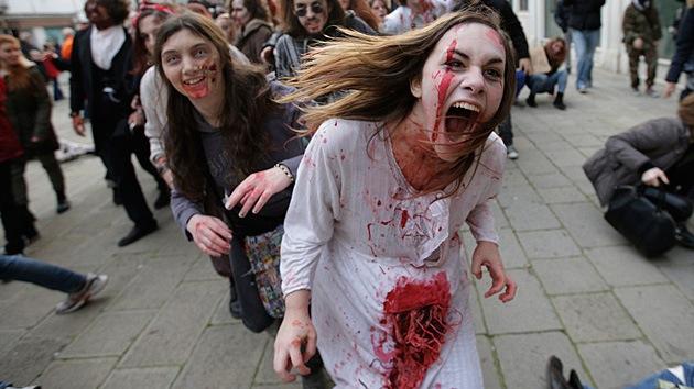 El Carnaval de Venecia se inunda de zombis