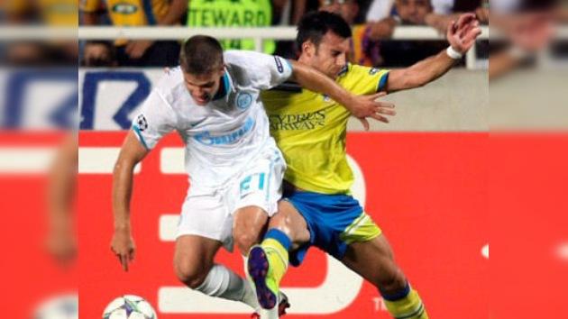 El Zenit se deja tres puntos ante el Apoel, que gana su primer partido en Champions