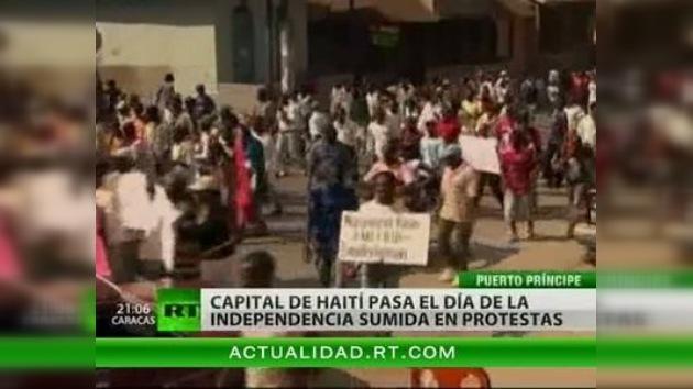 Haití celebra el Día de la Independencia con disturbios en la capital