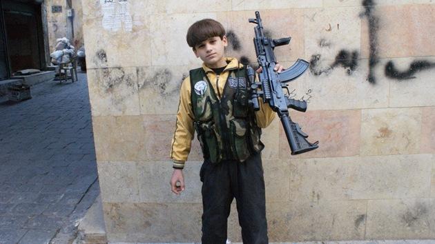 Un niño de 11 años en Siria, una 'máquina de matar' más