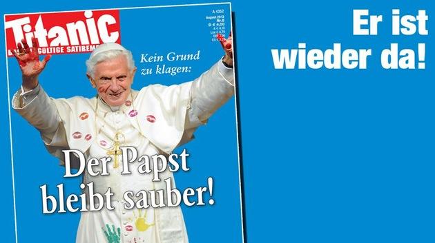 La revista Titanic vuelve a jugar con fuego: publica otra caricatura del Papa