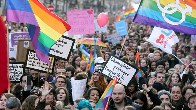 Fotos: Manifestación multitudinaria en París a favor del 'matrimonio gay'