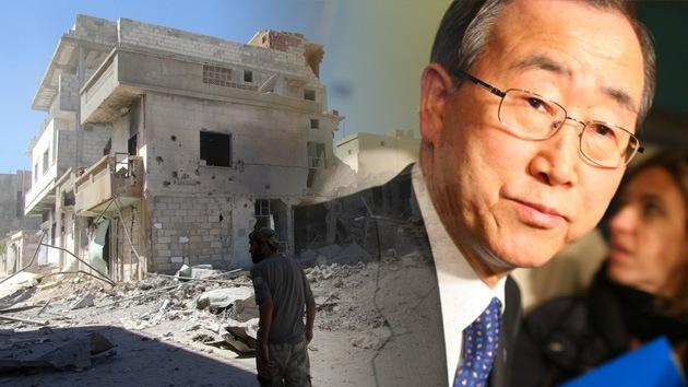 """Ban Ki-moon: """"Crisis humanitaria en Siria no tiene precedentes en la historia moderna"""""""