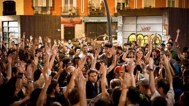 Los 'indignados' de España se plantean presentarse a las elecciones