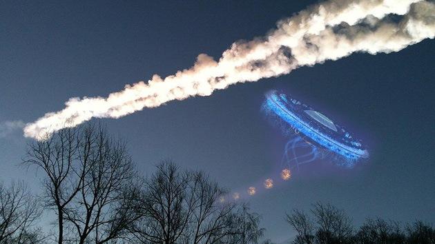 ¿Provocó un ovni la explosión del meteorito de Cheliábinsk?