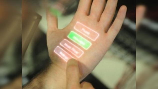 Una pantalla táctil en la piel