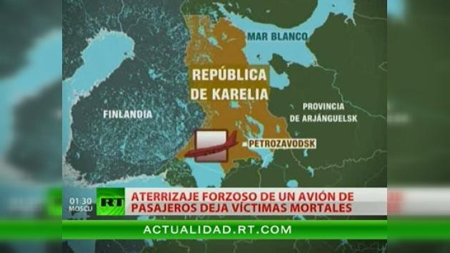Varios muertos en el aterrizaje forzoso de un avión de pasajeros al norte de Rusia