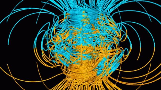 Campo magnético de la Tierra se prepara para la inversión