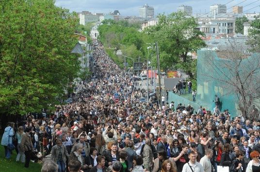 Paseos opositores por el centro de Moscú