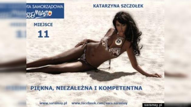 Fotos en bikini  en los carteles electorales en Polonia