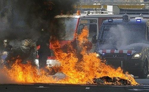 Las protestas europeas en imágenes