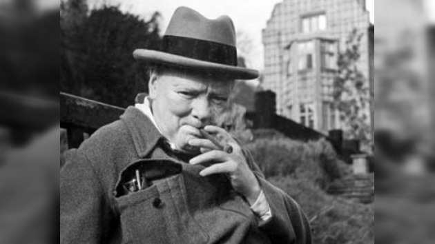 Sacan a subasta la punta del puro de Winston Churchill