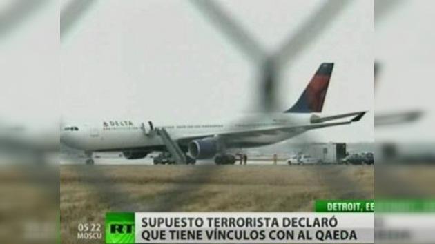 Terrorista intenta hacer explotar un avión en EE. UU.