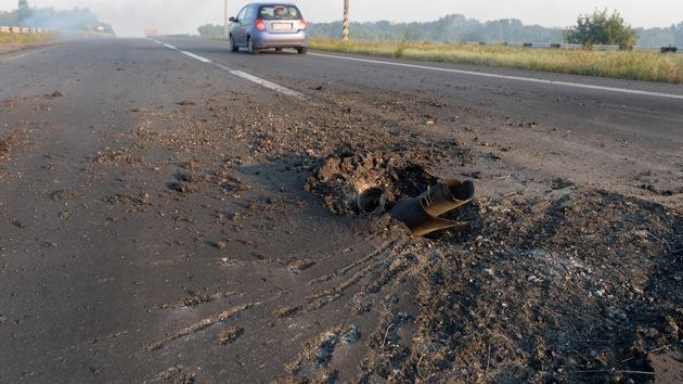 Bombardean un convoy de refugiados en Ucrania