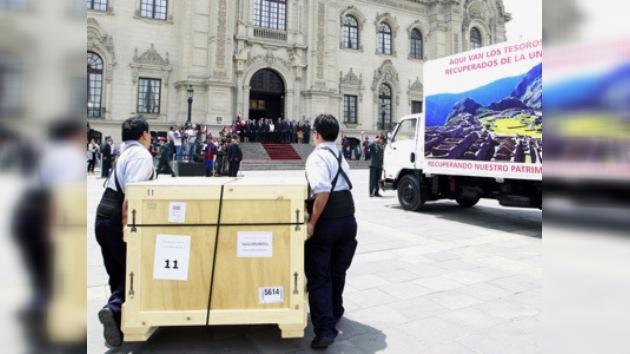 Tesoros de Machu Picchu regresan a Perú