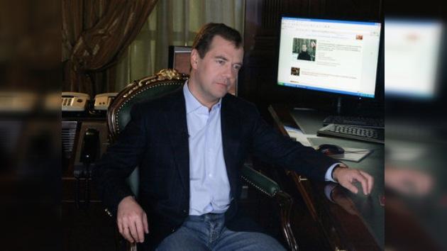 El blog del presidente es el más popular entre los rusos
