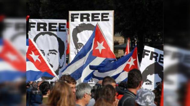 La Izquierda Unitaria Europea pide la liberación de ´Los cinco´
