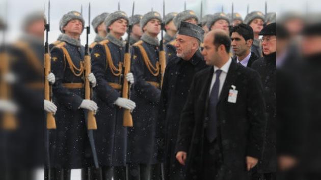 Empieza la visita oficial del presidente afgano, Hamid Karzai, a Moscú
