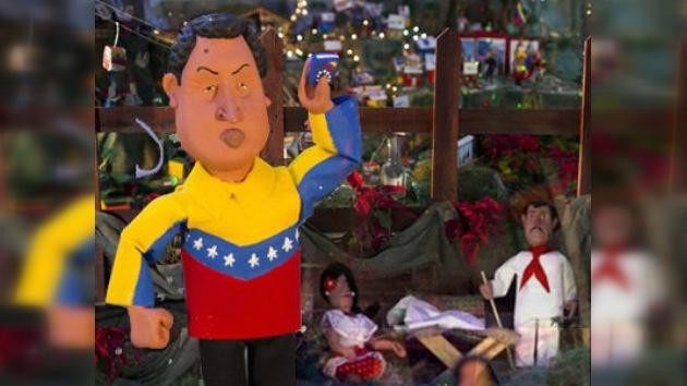 Hugo Chávez, en el papel de Jescucristo en el belén de Caracas