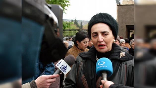 La viuda del primer presidente georgiano pide asilo político en Alemania