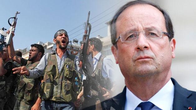 """Hollande respalda los suministros """"controlados"""" de armas al Ejército Libre Sirio"""