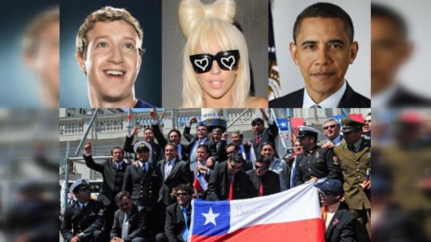 """Mineros chilenos disputarán título de """"Personaje del Año"""" con Gaga y Obama"""