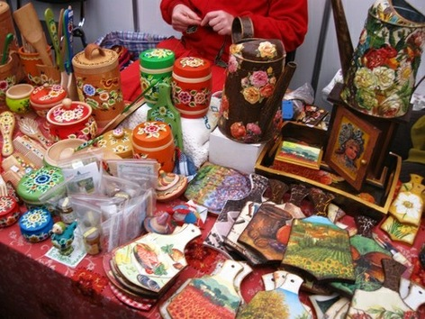 Feria tradicional en honor del Día de Moscú