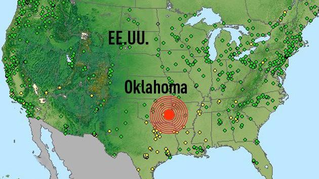 Un sismo de magnitud 4,3 sacude el estado de Oklahoma