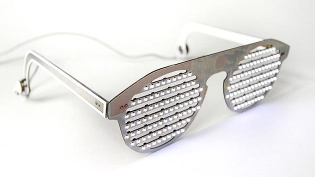 Gafas Led que brillan con videos, grafía e incluso tuits