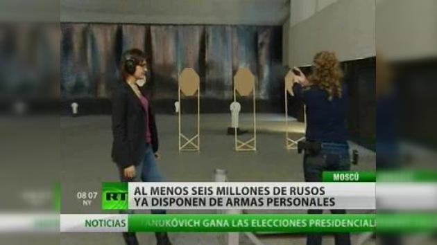 Crece el número de rusos que compran armas personales
